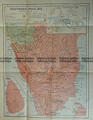 Antique Print Antique Map 236-001  India (Southern India) in 1803, published ...