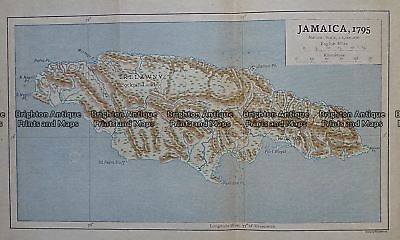 Antique Map 236-004  Jamaica in 1795, published c.1910 Other