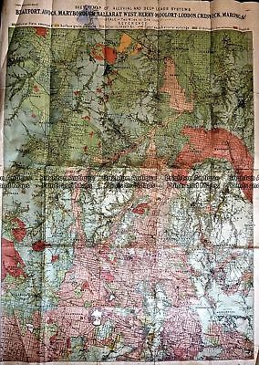 Antique Map 236-032  Geological map of Beaufort, Avoca, Maryborough, Ballarat...