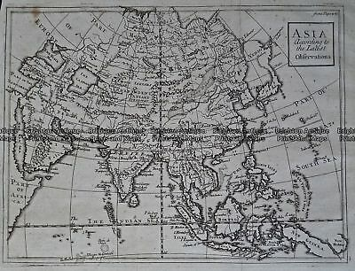 Antique Map 236-082  Asia According to the Latest Observations  c.1740
