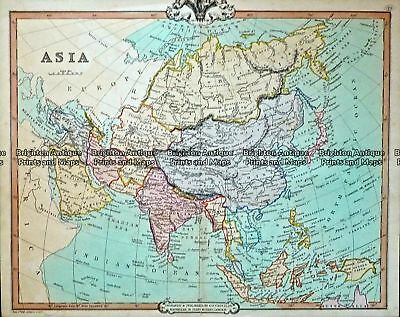 Antique Map 232-412  Asia by Cruchley  c.1834 Asia - Continent
