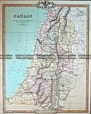 Antique Map 232-413  Canaan by Cruchley  c.1834 Holy Land