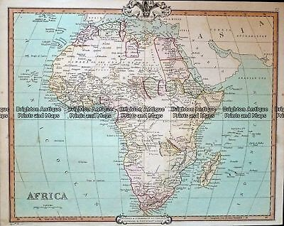Antique Map 232-121  Africa by Cruchley  c.1834 Africa - Continent