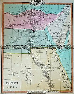 Antique Map 232-421  Egypt by Cruchley  c.1834 Northern Africa