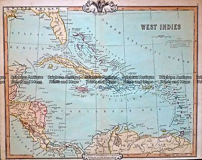 Antique Map 232-424  West Indies by Cruchley  c.1834 Other