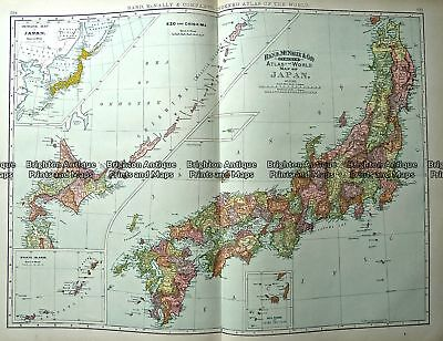 Antique Print Antique Map 233-023  Japan by Rand McNally  c.1894 Japan