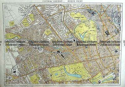 Antique Map 233-295  London - North West Central by Stanford  c.1887