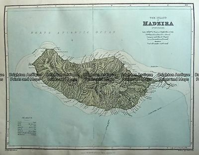 Antique Map 233-311  Madeira (region of Portugal) by Stanford  c.1887