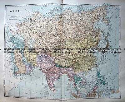 Antique Map 233-320  Asia by Stanford  c.1887 Asia - Continent