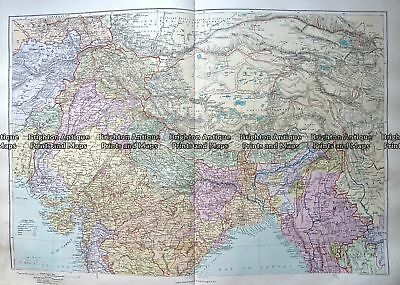 Antique Map 233-321  Central Asia and North India by Stanford  c.1887