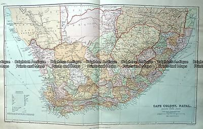 Antique Map 233-324  South Africa by Stanford  c.1887 Southern Africa