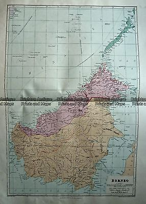 Antique Map 233-330  Borneo by Stanford  c.1887 South East Asia