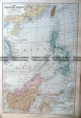 Antique Map Antique map 233-331 Philippine Islands by Stanford  c.1887