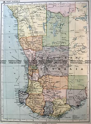 Antique Map 15-111  Western Australia - South West  c.1900 WA, SA & NT