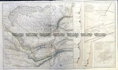 Antique Map 5-251 -Russia in Asia - Kyrgyzstan by Perthes  c.1858 Siberia