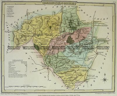 Antique Map 4-208 Wales Radnorshire  by J Roper  c.1809 Britain
