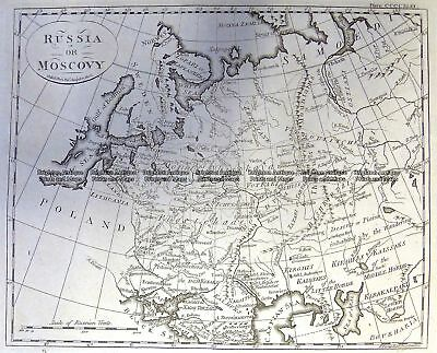 Antique Map 5-246  Russia in Europe by A. Bell  c.1775 Russia
