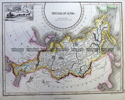 Antique Map 5-257  Russia in Asia by Thomson  c.1820 Siberia