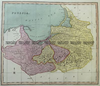 Antique Map 5-212 Germany - Prussia  c.1800 Germany