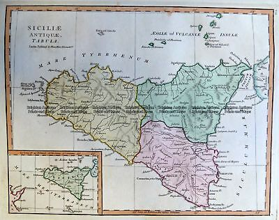 Antique Map 2-134  Sicily by Wilkinson  c.1830 Italy