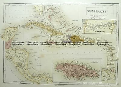 Antique Map 8-186  West Indies by Black  c.1862 Other