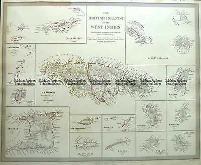 Antique Map 8-185  West Indies by S.D.U.K.  c. 1844 Other