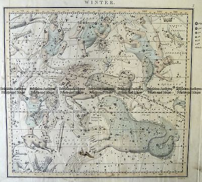 Antique Map 16-255  Celestial - Star system by Middleton  c.1842 Celestial