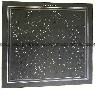 Antique Map 16-256  Celestial by Middleton  c.1842 Celestial