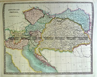 Antique Map 5-065  Austria by Teesdale  c.1844 Other