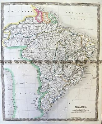 Antique Map 8-005  Brazil by Teesdale  c.1837 Northern South America