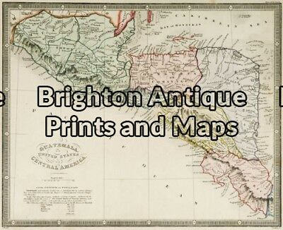 Antique Map 12-199 - South America - Guatemala J Wyld - circa 1853 Hand colou...