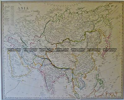 Antique Map 2-161  Asia by S.D.U.K. c.1844 Asia - Continent