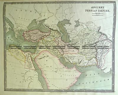 Antique Map 5-050  Persia Empire by Teesdale  c.1844 Middle East & Turkey