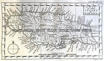 Antique Map 9-816  Jamaica  c.1762 Other