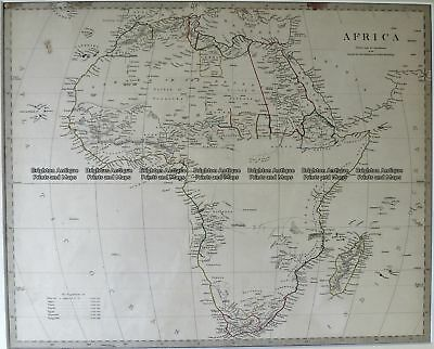 Antique Map 40-14  Africa by S.D.U.K. c.1844 Africa - Continent