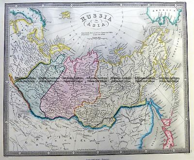 Antique Map 5-256 Russia in Asia by Wyld  c.1853 Siberia