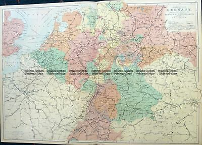 Antique Map 5-218  Germany by Black  c.1862 Germany