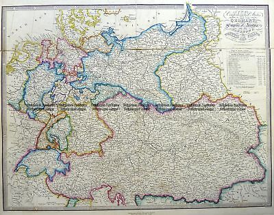 Antique Map 5-227  Germany by J Wyld  c.1853 Germany