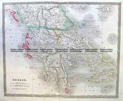 Antique Map 5-192  Greece by Teesdale  c.1837 Greece