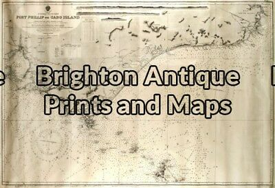 Antique Map 3-213 - Victoria -Port Phillip to Gabo Island Navigation Chart - ...
