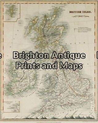 Antique Map 5-136 - Britain Downer - circa 1850 Hand coloured steel engraving...