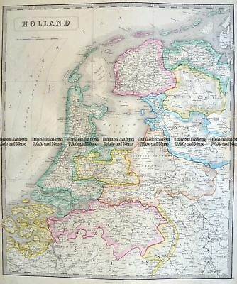 Antique Map 5-157  Holland by J Wyld  c.1840 Holland & Belgium