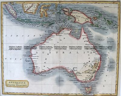 Antique Map 3-864  Australia by Longman Rees c.1840 Australia - Continent