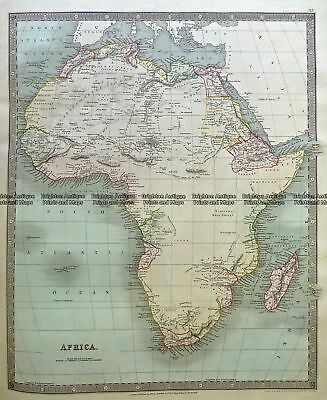 Antique Map 5-057  Africa by tees dale  c.1844 Africa - Continent