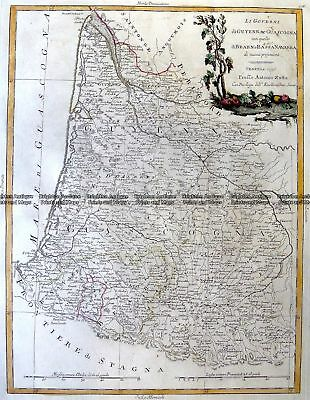 Antique Map 5-258  France - South West by Zatta  c.1776 France
