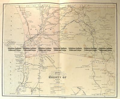 Antique Map 15-114  Western Australia - Perth and vicinity  c.1886