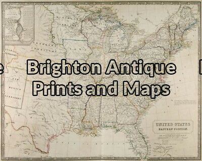 Antique Map 8-180 - North America - Eastern United States Johnston - circa 18...