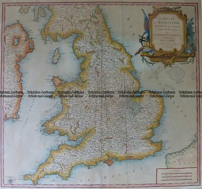 Antique Map 4-183  England and Wales by Robert c.1753 Britain