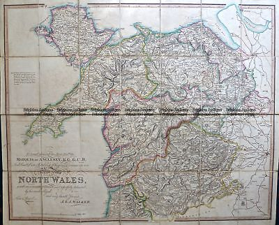 Antique Map 4-201  Wales - northern Counties by Walker  c.1824 Wales