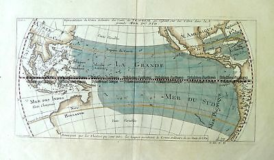 Antique Map 3-006 - Australia - Mer du Sud (Pacific) A F Prevost - circa 1753...